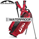 Sun Mountain H2NO Lite Waterproof 14-Vaks Stand Bag Rood