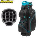 BagBoy DG Lite II TL Cartbag, zwart/turquoise/witte stippen