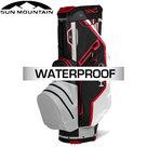 Sun Mountain USA H2NO Lite Waterproof 14-Vaks Cartbag Zwart-Grijs-Rood