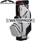 Sun Mountain USA H2NO Lite Waterproof 14-Vaks Cartbag, grijs/zwart/rood