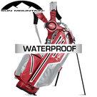 Sun Mountain USA H2NO Lite Waterproof 14-Vaks Standbag, rood/grijs