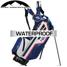 Sun Mountain USA H2NO Lite Waterproof 14-Vaks Standbag, blauw/grijs/rood