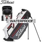 Titleist Players 4 Plus Stadry Standbag Golftas, grijs/wit/rood