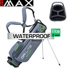Big Max DriLite Seven 2.0 Waterproof Standbag Golftas, grijs/lime
