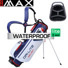 Big Max DriLite Seven 2.0 Waterproof Standbag Golftas, wit/blauw/rood