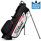 Titleist Players 4UP StaDry Standbag Zwart/Wit/Rood