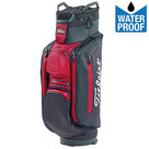 Titleist Stadry Deluxe Waterproof Cartbag, Zwart/Bordeauxrood