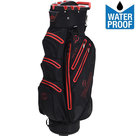 Spalding Zero Contact Waterproof Cartbag Golftas, Zwart/Rood