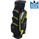Spalding Zero Contact Waterproof Cartbag Golftas, Zwart/Lime