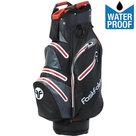 Fastfold Waterproof Cartbag Golftas, Zwart/Rood