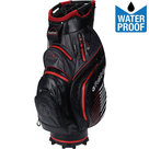 Fastfold C95 Waterproof Cartbag Golftas, Zwart/Grijs/Rood
