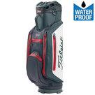 Titleist Stadry Lightweight Waterproof Cartbag Golftas, Zwart/Wit/Rood