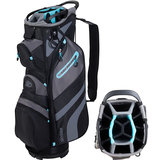 Skymax LW Cartbag Golftas Zwart/Lichtblauw
