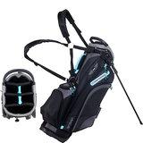 Skymax LW Standbag Golftas Zwart/Lichtblauw