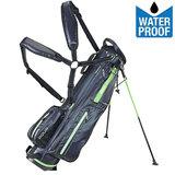 Big Max Aqua 6 Mini Waterproof Standbag Golftas, Zwart/Lime