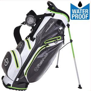 Fastfold Waterproof Standbag Golftas, Grijs/Wit/Lime