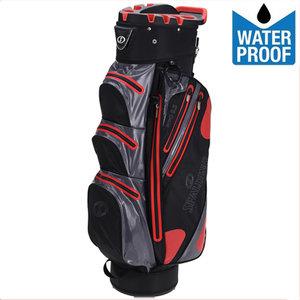 Spalding Zero Contact Waterproof Cartbag Golftas, Zwart/Grijs/Rood