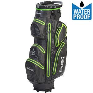 Spalding Zero Contact 2.0 Waterproof Cartbag Golftas, Grijs/Lime