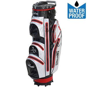 Spalding Zero Contact 2.0 Waterproof Cartbag Golftas, Zwart/Wit/Rood