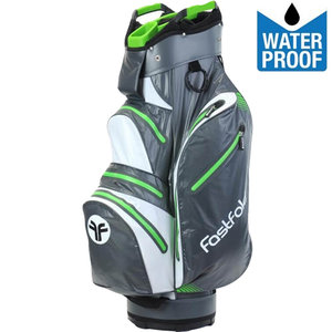 Fastfold Waterproof Cartbag Golftas, Grijs/Lime